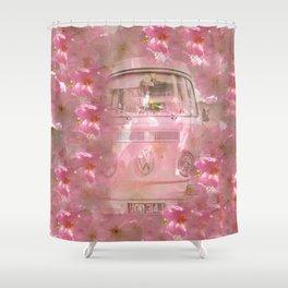DESTINATION CHERRY BLOSSOM ROAD Shower Curtain
