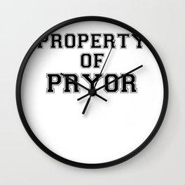 Property of PRYOR Wall Clock