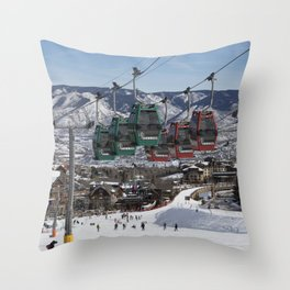 Scene at Snowmass a skiing and snowboarding area Pitkin County Colorado in the valley of the Roaring Throw Pillow