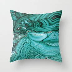 Turquoise section Throw Pillow
