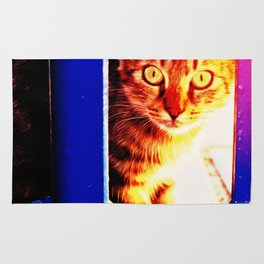 Cat portrait Rug