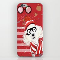 waldo iPhone & iPod Skins featuring Wheres Waldo by grapeloverarts