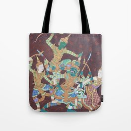 Cambodia traditional painting. Tote Bag