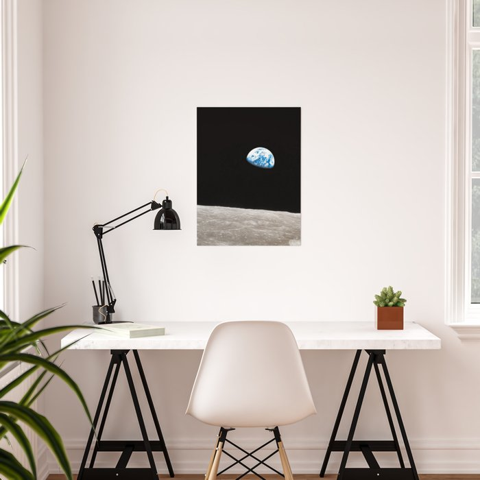 Earthrise William Anders Poster