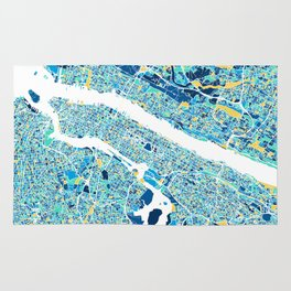 New York City Map United states full color Rug