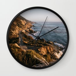 The Road to Big Sur Wall Clock