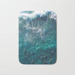 Surfing in the Ocean 2 Bath Mat