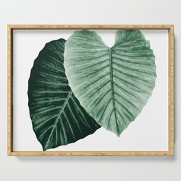 Love Leaves Evergreen - Him & Her #2 #decor #art #society6 Serving Tray