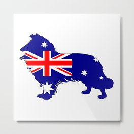 Australian Flag - Border Collie Metal Print