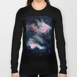 Dreamy Cloud Galaxy, Pink Long Sleeve T-shirt