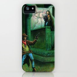 The Gunslinger and the Man Behind the Curtain iPhone Case