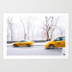 City Winter Art Print