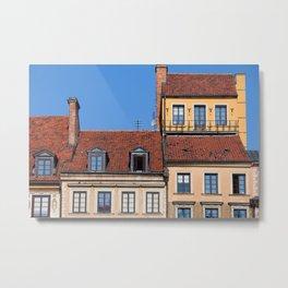 Houses in Old Town of Warsaw Metal Print