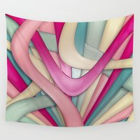 bubblegum Wall Tapestries featuring Laminated bubblegum by Eleaxart
