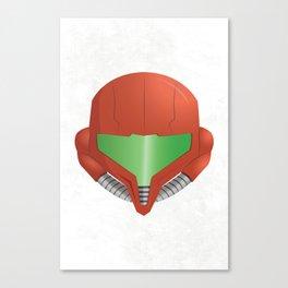 Samus Helmet - Super Metroid white Canvas Print