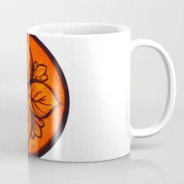 Medieval Stained Glass Flower Coffee Mug