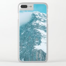 Blue power Clear iPhone Case