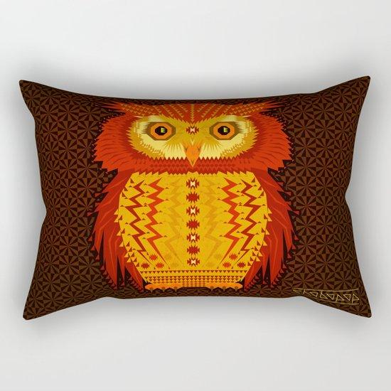 Geometric Owl Rectangular Pillow