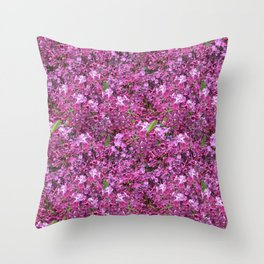 Amid the Lilacs Throw Pillow