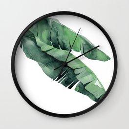Tropical Island Leaves Pair Wall Clock