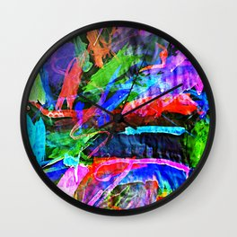 Lily's Watercolor Inverted Wall Clock