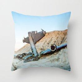 Desert Plane Wreckage Throw Pillow