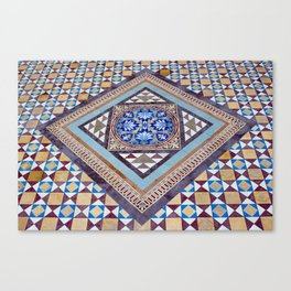 Beautiful, Traditional, Indian Tile Work in Hyderabad, India Canvas Print