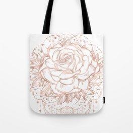 Mandala Lunar Rose Gold Tote Bag