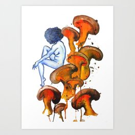 Lady and the Shroom Art Print