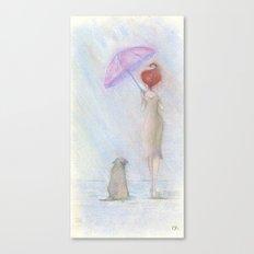 A man's best friend Canvas Print