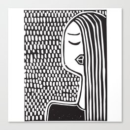 Zora by Laura Pizzicalaluna Canvas Print