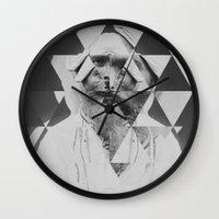 kaleidoscope Wall Clocks featuring Kaleidoscope by Mrs Araneae