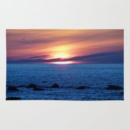 Sunset over Blue Waters Rug