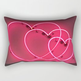 Neon Hearts Rectangular Pillow