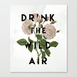Drink The Wild Air Canvas Print