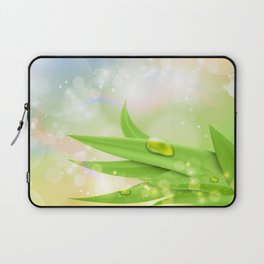 pastel colors with green grass and dew Laptop Sleeve