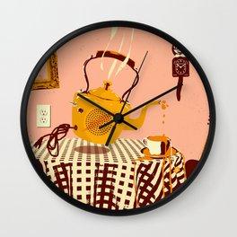 ORANGE TEA SPILL Wall Clock
