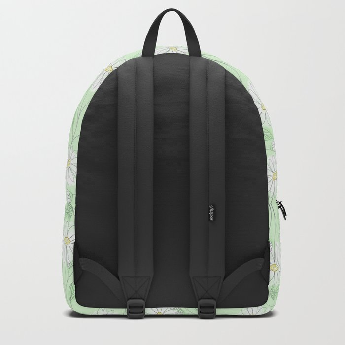 Cartoon  chamomile. Backpack