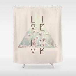 Live & Love Vintage Shower Curtain