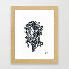 Henna Design 8 (Dancing in the Street) Framed Art Print