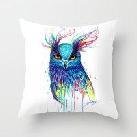 aurora Throw Pillows featuring -Aurora- by PeeGeeArts
