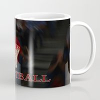 basketball Mugs featuring Basketball by LoRo  Art & Pictures