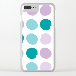Painted dots abstract minimal modern art print for minimalist home decor nursery Clear iPhone Case