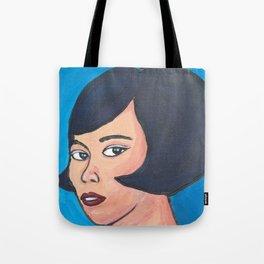 Portrait - Retro Faces Tote Bag