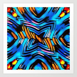 Blue-red abstract Art Print