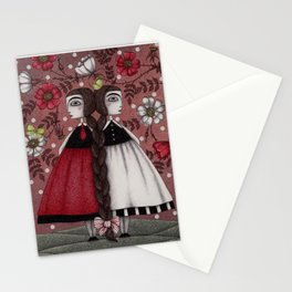 Snow-White and Rose-Red (1) Stationery Cards