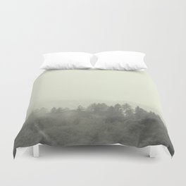 Foggy tree tops... Duvet Cover