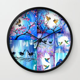 Purples and Blues Wall Clock