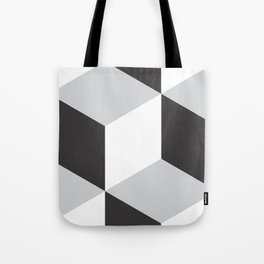 Cubism Black and White Tote Bag