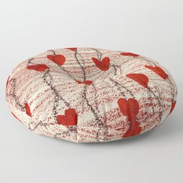 All My Hearts on Display Floor Pillow